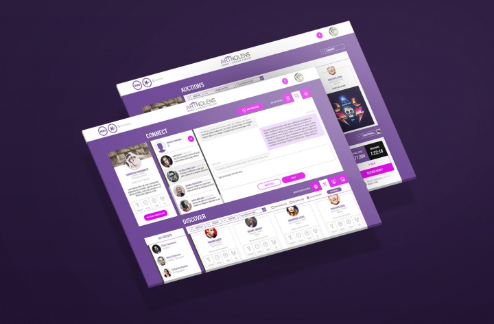 ARTNOLENS › Webdesign, UI UX